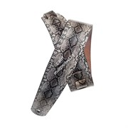 PLANET WAVES 2' Suede with Silver Screened Snakeskin Print ремень замша с рисунком 'кожа змеи'