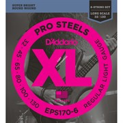 D'ADDARIO EPS170-6 PROSTEELS 6-STRING BASS LIGHT 30-130 струны для 6-струнной бас-гитары, мензура 34-36,25', сталь, 30-130