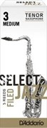D`ADDARIO WOODWINDS RSF05TSX3M Select Jazz Filed Tenor Saxophone Reeds, 3M, 5 BX трости для тенор саксофона, размер 3, средние,