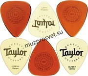 TAYLOR 80790 Picks, Variety Pack- Primetone (3) and Ultex (3) Набор медиаторов, Primetone (3 шт.), Ultex (3 шт.).