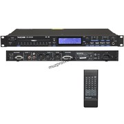 Tascam CD-500B CD плеер Wav/MP3, RCA /XLR/SPDIF+ AES/EBU, CD-Text, Anti-shock, pitch 16%, 1U,  пульт ДУ, 15-контактный D-sub