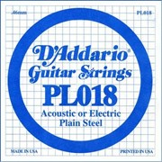 D`ADDARIO PL018 Single Plain Steel 018 одиночная струна