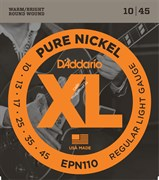 D'ADDARIO EPN110 PURE NICKEL REGULAR LIGHT 10-45 струны для электрогитары, никель, 10-45