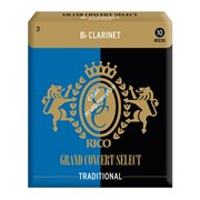 RICO Grand Concert Bb Clarinet TRADITIONAL 2,5x10 (RGC10BCL250) - Трости для кларнета Bb-2.5, (10шт)