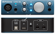 PreSonus AudioBox iOne аудио интерфейс, USB 2.0/iPad-Port, 2вх/2 вых канала, 1мик,1инстр, 24бит/44-96кГц, софт Studio One Artist