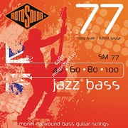 ROTOSOUND SM77 JAZZ BASS FLATWOUND STRINGS MONEL струны для бас-гитары, монель, 40-100