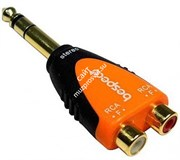SLAD370B/Адаптер; 6,3мм Stereo Jack male - 2 x RCA female/BESPECO