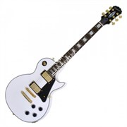 EPIPHONE LES PAUL CUSTOM PRO ALPINE WHITE электрогитара, цвет белый