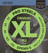D'ADDARIO EPS165-5 PROSTEELS 5-STRING BASS CUSTOM LIGHT 45-135 струны для 5-струнной бас-гитары, мензура 34-36,25', сталь, 45-13