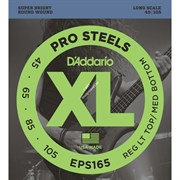 D'ADDARIO EPS165 PROSTEELS BASS CUSTOM LIGHT 45-105 струны для бас-гитары, мензура 34-36,25', сталь, 45-105