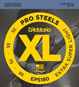 D'ADDARIO EPS180 PROSTEELS BASS EXTRA SUPER LIGHT 35-95 струны для бас-гитары, мензура 34-36,25', сталь, 35-95