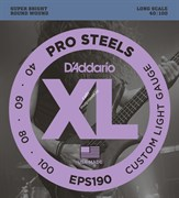 D'ADDARIO EPS190 PROSTEELS BASS CUSTOM LIGHT 40-100 струны для бас-гитары, мензура 34-36,25', сталь, 40-100