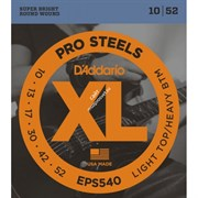 D'ADDARIO EPS540 PROSTEELS LIGHT TOP/HEAVY BOTTOM 10-52 струны для электрогитары, сталь, 10-52