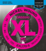 D'ADDARIO EXL170 Nickel Wound Bass, Light, 45-100, Long Scale струны для бас-гитары, 45-100