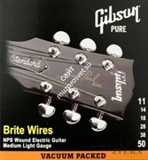 GIBSON SEG-700ML BRITE WIRES NPS WOUND .011-.050 струны для электрогитары