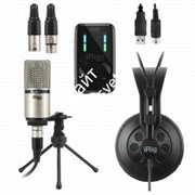 IK MULTIMEDIA iRig Pro Duo Studio Suite комплект из iRig Pro DUO, iRig Mic Studio XLR, iRig Headphone и программного обеспечения