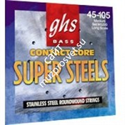 GHS STRINGS M5200 SUPERSTEEL набор струн для бас-гитары, 045-105