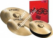 PAISTE 101 BRASS UNIVERSAL SET набор тарелок (Hi-hat 14', Crash 16', Ride 20')