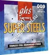 GHS ST-XL SUPER STEELT набор струн для электрогитары, сталь, 9-42