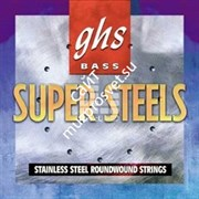 GHS STRINGS 5M-STB Super Steels™ набор струн для 5-ти струнной бас-гитары, Long Scale Plus / Rounwound Stainless Steel (44-126)
