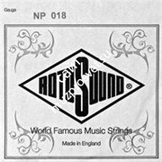 ROTOSOUND NP018 STAINLESS STEEL PLAIN одиночная струна для электрогитары 018