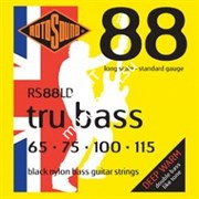 ROTOSOUND RS88LD BLACK NYLON FLATWOUND BASS STRINGS струны для бас-гитары, сталь, 65-115