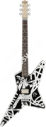 EVH Striped Series Star, Rosewood Fingerboard, Black & White Stripe Электрогитара, модель Wolfgang WG Standard, цв. черно-белый
