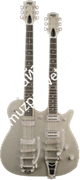 Gretsch G5265 Electromatic® Jet Double Neck with Bigsby®, Rosewood Fingerboard, Silver Sparkle Электрогитара, цвет серебристый
