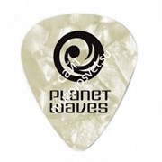 PLANET WAVES 1CWP6-25 White Pearl Celluloid Heavy медиатор (упак. 25 шт.)